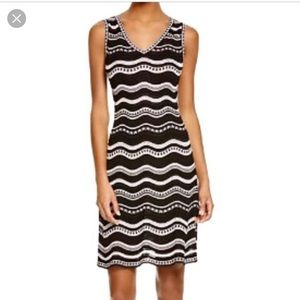 M Missoni Knitted Printed Cotton Viscose Dress 44